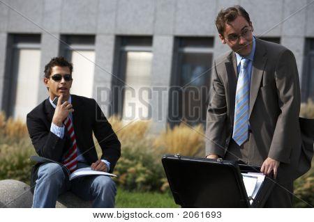 Business Men Watching Something