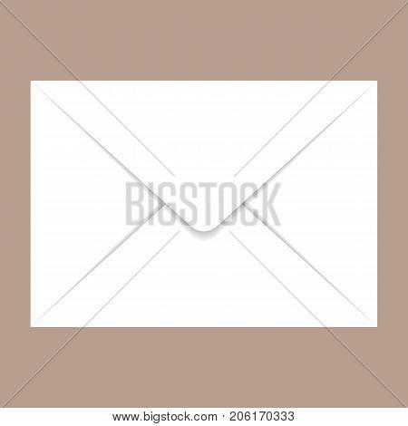 Back side c5 envelope mockup. Realistic illustration of back side c5 envelope vector mockup for web design