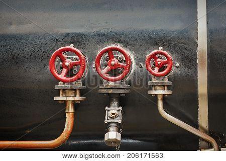 Valves On The Boiler