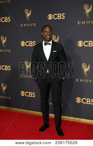 LOS ANGELES - SEP 17:  Sterling K Brown at the 69th Primetime Emmy Awards - Arrivals at the Microsoft Theater on September 17, 2017 in Los Angeles, CA