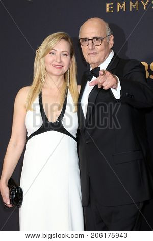 LOS ANGELES - SEP 17:  Kasia Ostlun, Jeffrey Tambor at the 69th Primetime Emmy Awards - Arrivals at the Microsoft Theater on September 17, 2017 in Los Angeles, CA