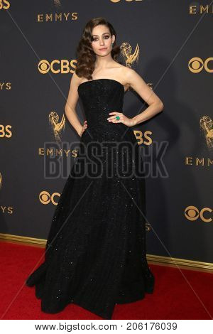LOS ANGELES - SEP 17:  Emmy Rossum at the 69th Primetime Emmy Awards - Arrivals at the Microsoft Theater on September 17, 2017 in Los Angeles, CA