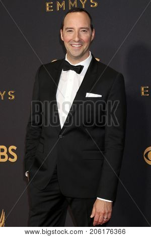 LOS ANGELES - SEP 17:  Tony Hale at the 69th Primetime Emmy Awards - Arrivals at the Microsoft Theater on September 17, 2017 in Los Angeles, CA