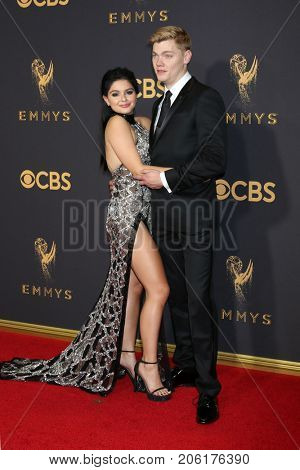 LOS ANGELES - SEP 17:  Ariel Winter, Levi Meaden at the 69th Primetime Emmy Awards - Arrivals at the Microsoft Theater on September 17, 2017 in Los Angeles, CA