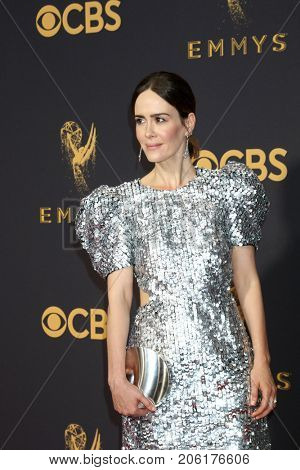 LOS ANGELES - SEP 17:  Sarah Paulson at the 69th Primetime Emmy Awards - Arrivals at the Microsoft Theater on September 17, 2017 in Los Angeles, CA