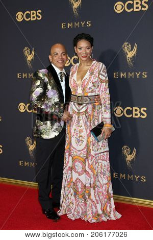 LOS ANGELES - SEP 17:  Rickey Minor, Rachel Montez Minor at the 69th Primetime Emmy Awards - Arrivals at the Microsoft Theater on September 17, 2017 in Los Angeles, CA