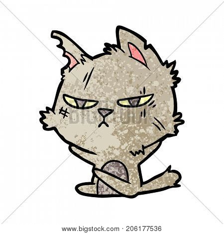 tough cartoon cat