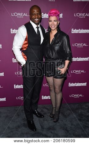 LOS ANGELES - SEP 15:  Terry Crews and Rebecca King-Crews arrives for the Entertainment Weekly Pre Emmy Party on September 15, 2017 in West Hollywood, CA