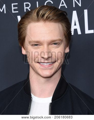 LOS ANGELES - SEP 14:  Calum Worthy arrives for the Netflix premiere of