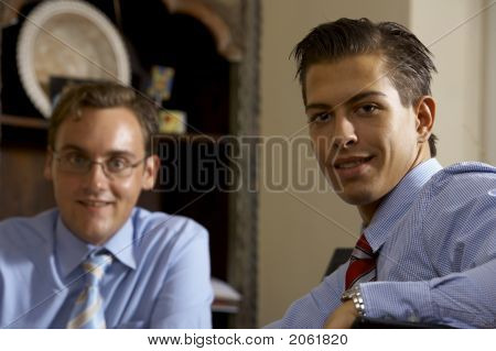 Two Young Business Men