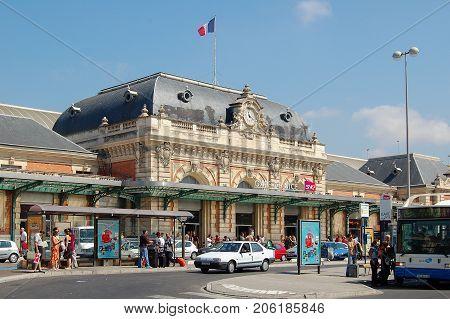 Gare de Nice-Ville the central train station of Nice, France - 21 July 2007