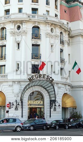 Hotel Negresco, one of the most memorable landmark hotels in France, celebrated its centenary in 2012 - Nice, 21 July 2007