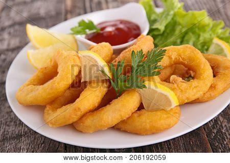 fried onion or calamari rings
