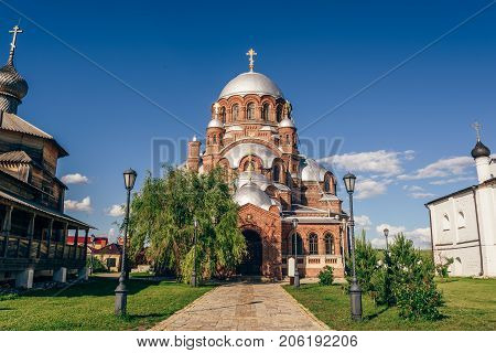 Church of the Theotokos Joy of All Who Sorrow at the Ioanno-Predtechensky Monastery in City-Island Sviyazhsk, Russia.