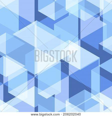 Light Blue Geometry Abstract Seamless Pattern