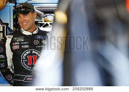 September 16, 2017 - Joliet, Illinois, USA: Kevin Harvick (4) hangs out in the garage during practice for the Tales of the Turtles 400 at Chicagoland Speedway in Joliet, Illinois.