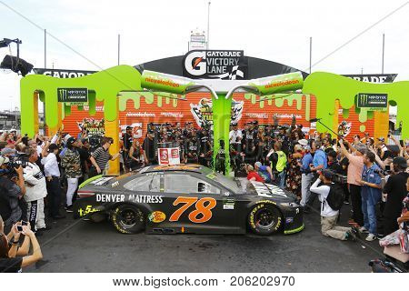 September 17, 2017 - Joliet, Illinois, USA: Martin Truex Jr (78) wins the Tales of the Turtles 400 at Chicagoland Speedway in Joliet, Illinois.