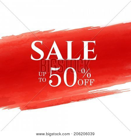 Sale Poster With Red Blot