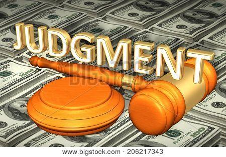 Judgment Law Concept 3D Illustration