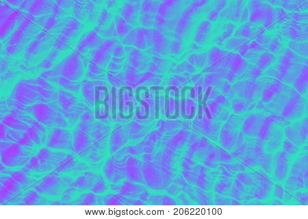 Sea surface, bright summer background, trendy duotone effect, 90's style