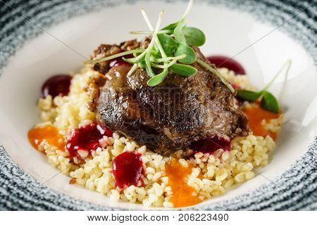 pork with couscous