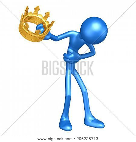 The Original 3D King Character Illustration