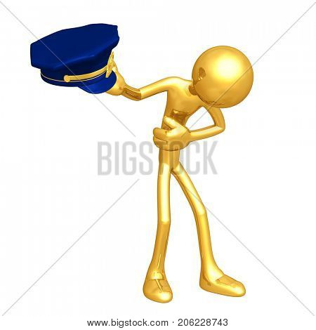 The Original 3D Police Officer Character Illustration