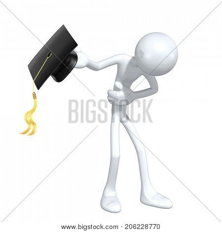 The Original 3D Graduate Character Illustration