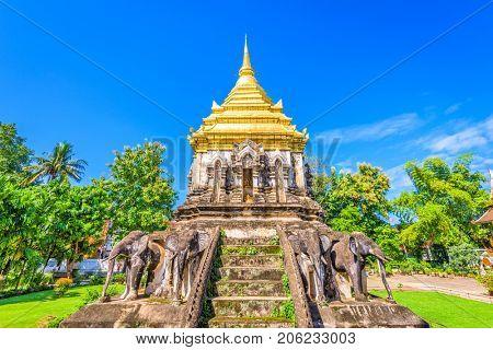 Chiang Mai, Thailand at Wat Chiang Man.