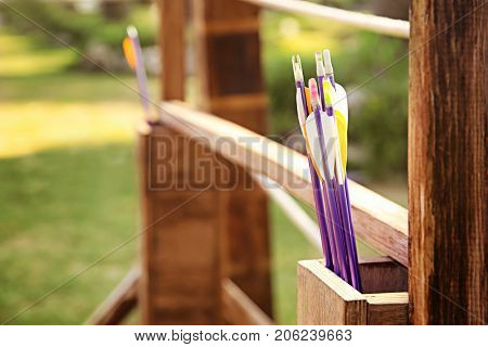 Arrows for archery outdoors