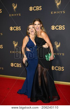 LOS ANGELES - SEP 17:  Kit Hoover, Natalie Morales at the 69th Primetime Emmy Awards - Arrivals at the Microsoft Theater on September 17, 2017 in Los Angeles, CA