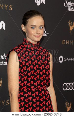 LOS ANGELES - SEP 15:  Alexis Bledel at the 69th Primetime Emmy Awards Performers Nominee Reception at the Wallis Annenberg Center for the Performing Arts on September 15, 2017 in Beverly Hills, CA