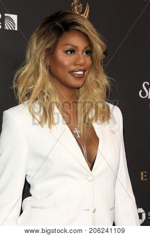 LOS ANGELES - SEP 15:  Laverne Cox at the 69th Primetime Emmy Awards Performers Nominee Reception at the Wallis Annenberg Center for the Performing Arts on September 15, 2017 in Beverly Hills, CA