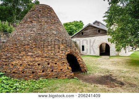 Charcoal kiln in Faeytte Historic Townsite in Upper Peninsula, Michigan