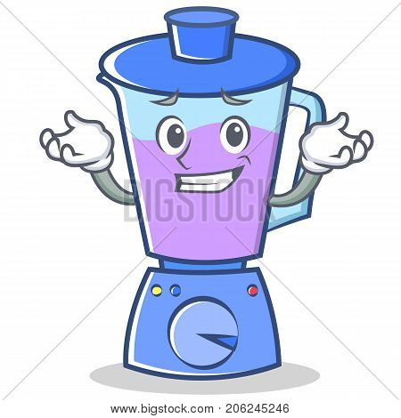 Grinning blender character cartoon style vector illustration