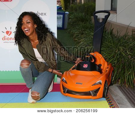 LOS ANGELES - SEP 23:  Mishael Morgan at the 6th Annual Red CARpet Safety Awareness Event at the Sony Pictures Studio on September 23, 2017 in Culver City, CA