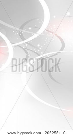Grey white banner background with sparkling lights