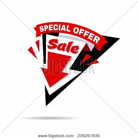 Sale banner template and special offer.
