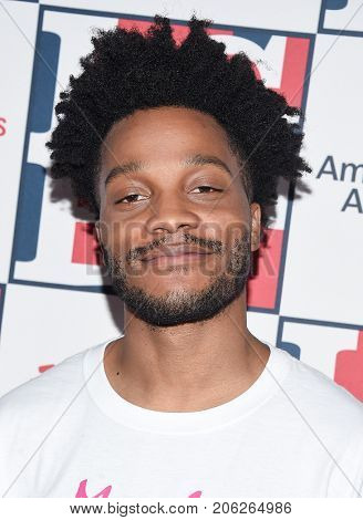 LOS ANGELES - SEP 24:  Jermaine Fowler arrives for the LGBT Center's Vanguard Awards 2017 on September 24, 2017 in Beverly Hills, CA