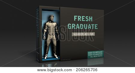 Fresh Graduate Employment Problem and Workplace Issues 3D Illustration Render