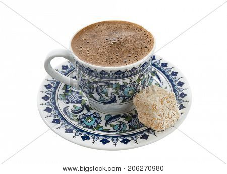 Turkish Coffee Served with Delight  poster