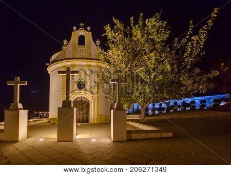 Old aqueduct and church in Elvas - Portugal