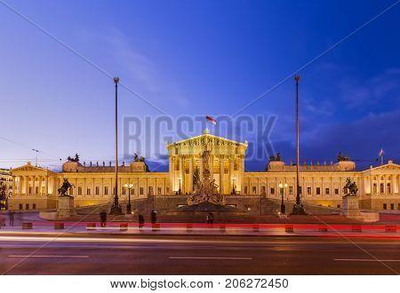 Parliament in Vienna Austria - cityscape architecture background