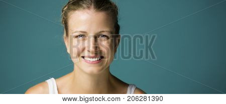 Blonde woman beauty