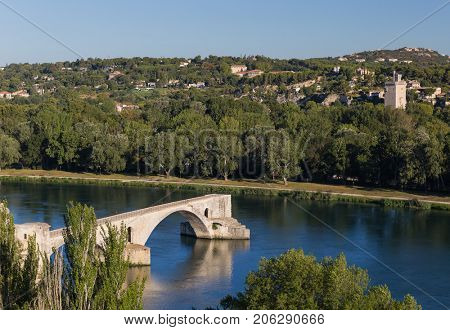 Famous bridge in Avignon - Provence France - travel and architecture background