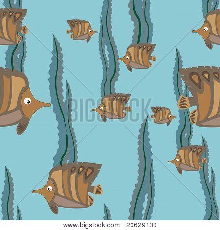 naadloze patroon bruin vis