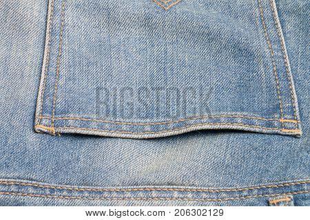 Close Up Back Pocket Jeans And Sew Stitch Design