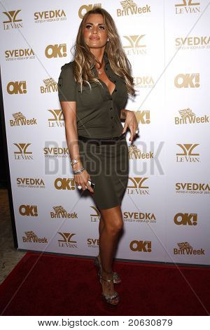 WEST HOLLYWOOD - FEB 25:  Katie Price arriving at the OK! Magazine and BritWeek celebrate the Oscars party held at the London Hotel in West Hollywood, California on February 11, 2011.