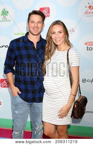 LOS ANGELES - SEP 23:  Matt Lanter, Angela Stacy at the 6th Annual Red CARpet Safety Awareness Event at the Sony Pictures Studio on September 23, 2017 in Culver City, CA