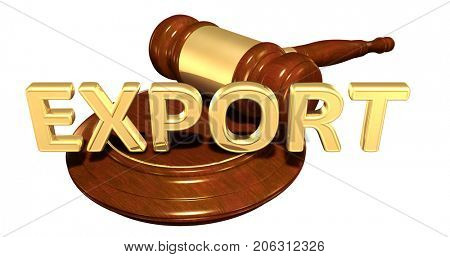 Export Law Concept 3D Illustration